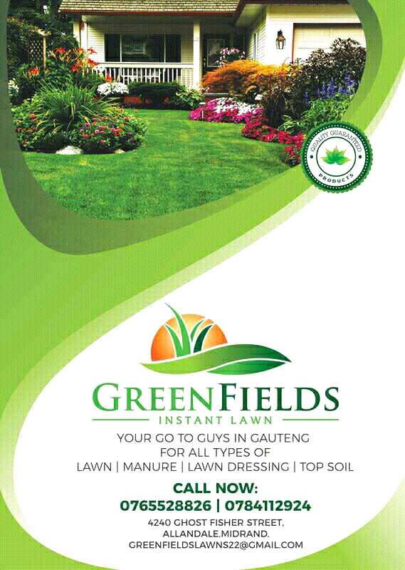 Greenfields Instant lawns.