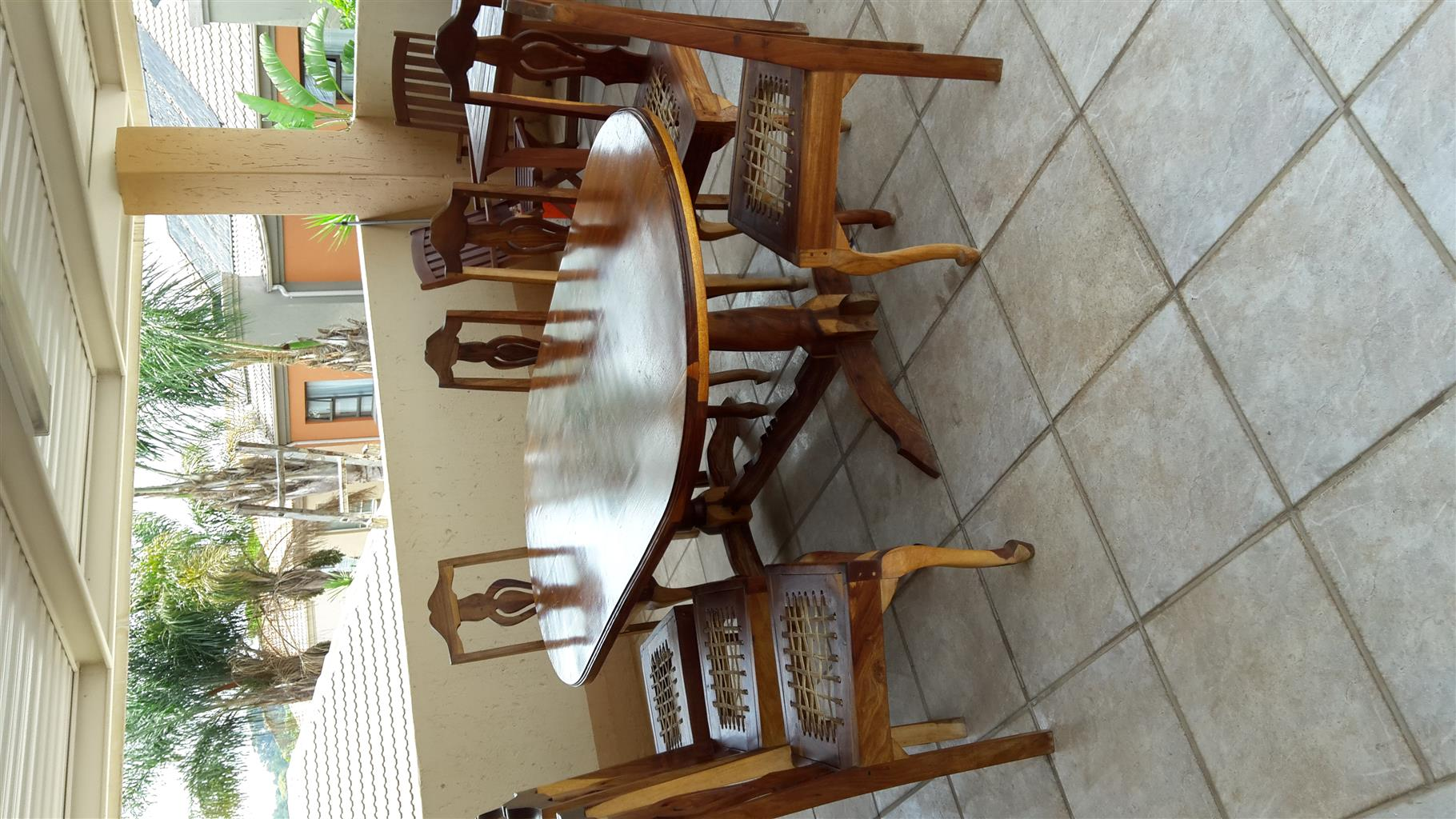 Dinning room suite. Solid wood. Eight seater. Excellent condition.