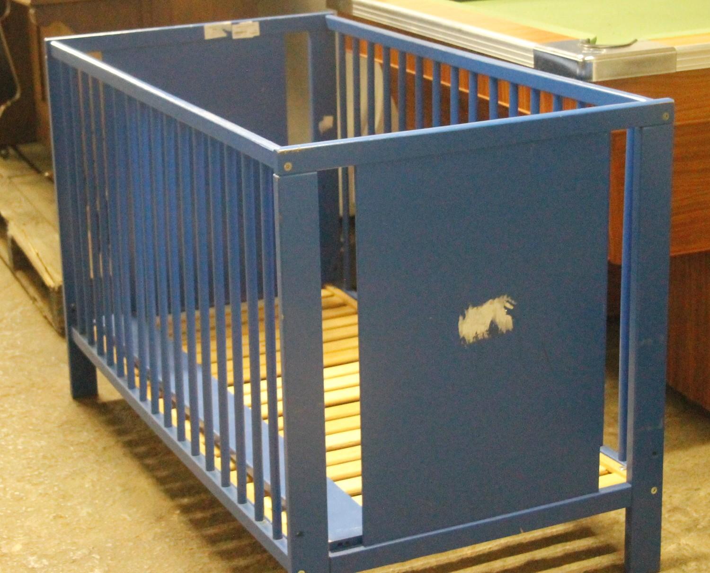 Blue baby cot s02818a #Rosettenvillepawnshop