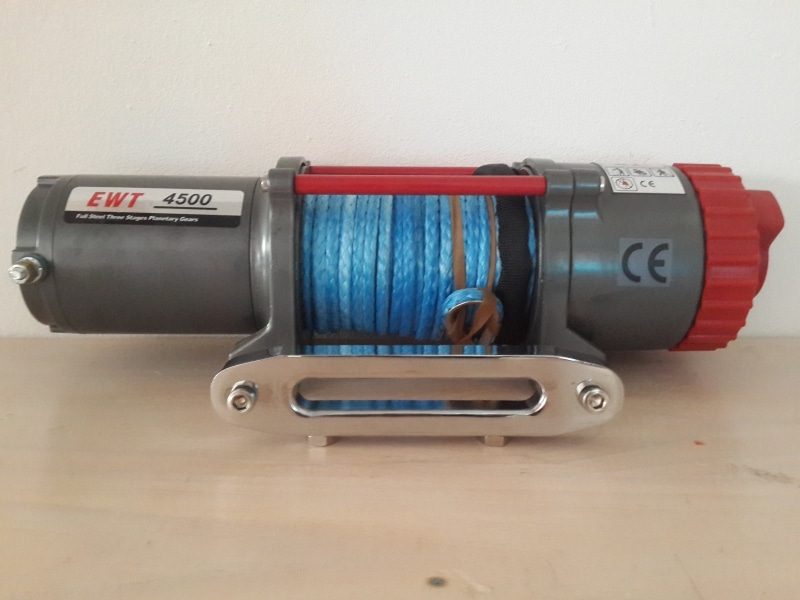 RUNVA T4500S-SR 12V ELECTRIC SYNTHETIC ROPE WINCH