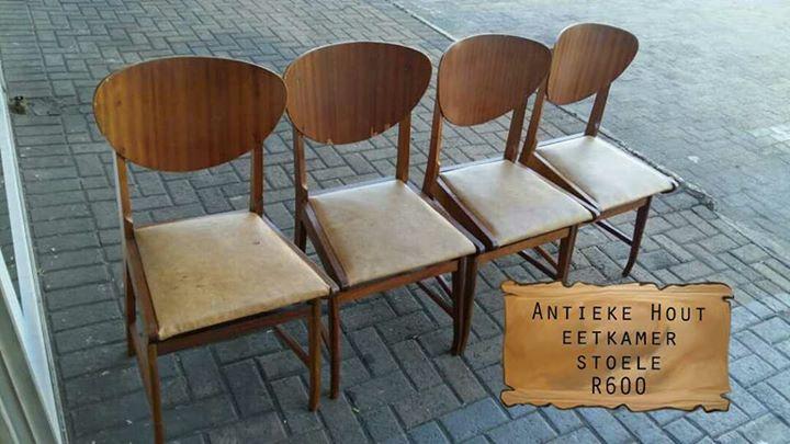 Antieke hout eetkamer stoele | Junk Mail