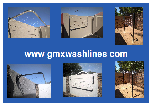 Washing Line, Aluminium, wall mounted, fold away GMX Wash Lines