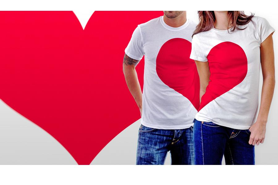 Couple T Shirts Pair T Shirts And Printing R280 Valentines T Shirts