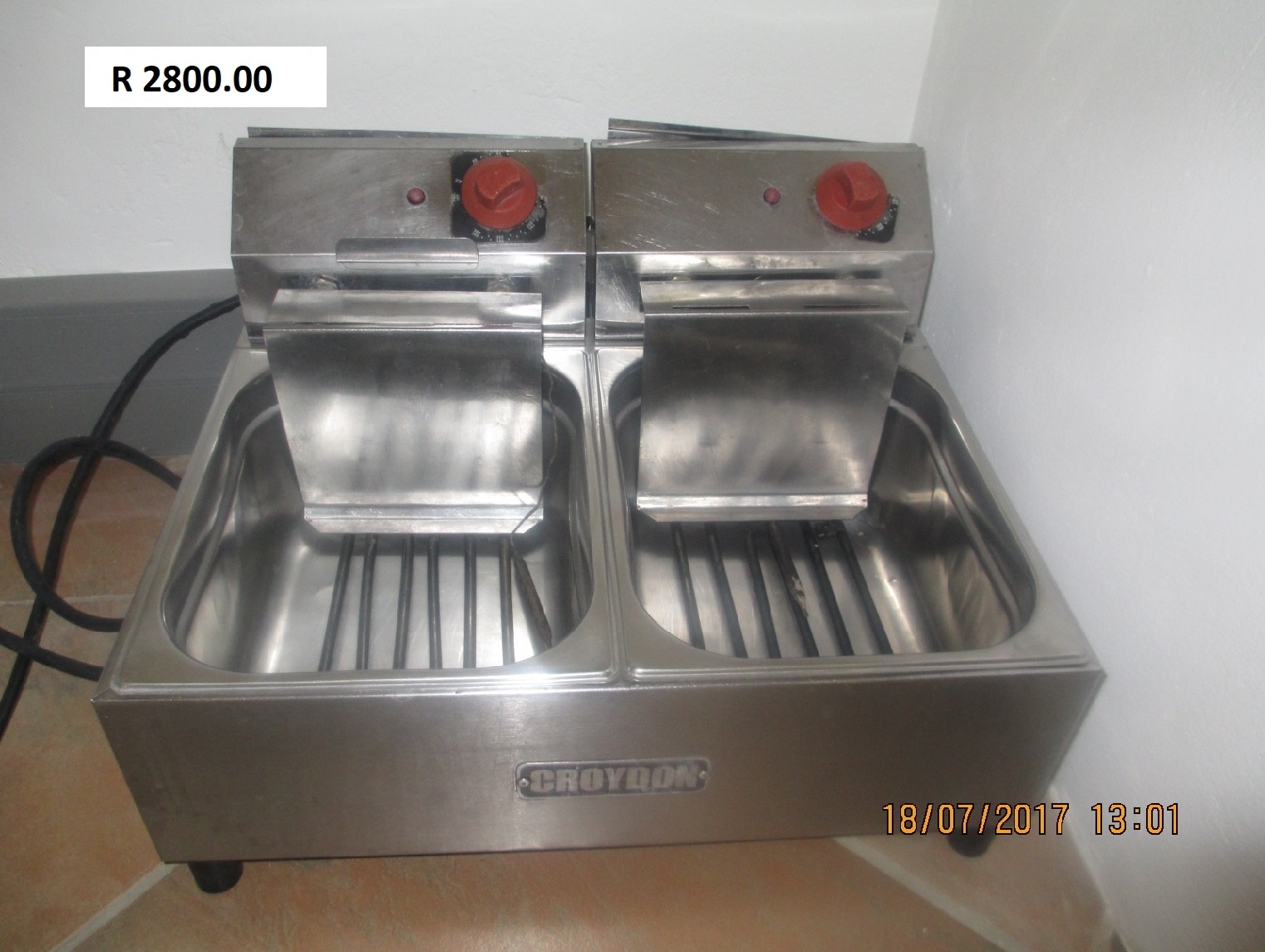 Double deep fryer - Electrical - R2800.00 - CATERING EQUIPMENT