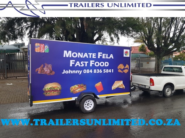 TRAILERS UNLIMITED. 4400 X 1900 X 2000 CATERING TRAILER.
