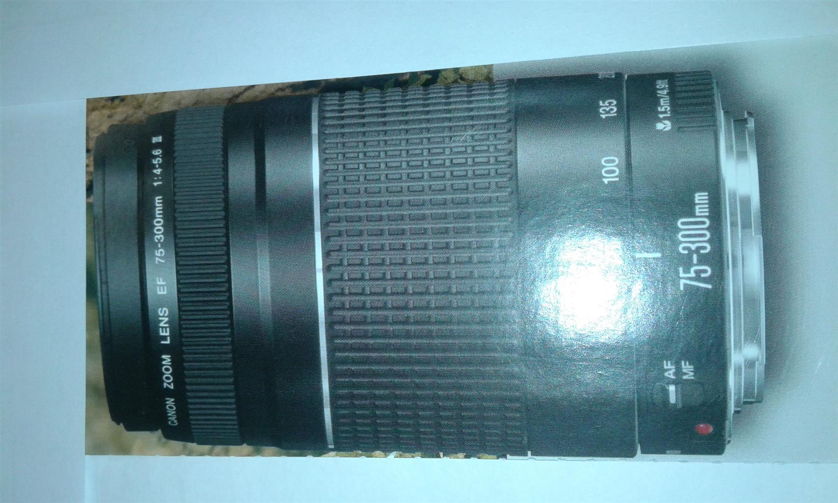 Canon lens 75 - 300 mm uses twice only  R1500