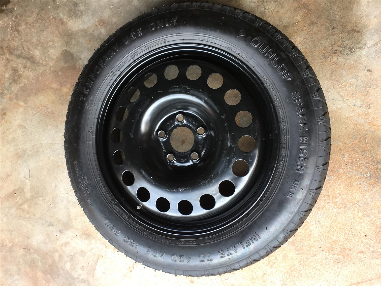 T155 90 D18 space saver spare wheel