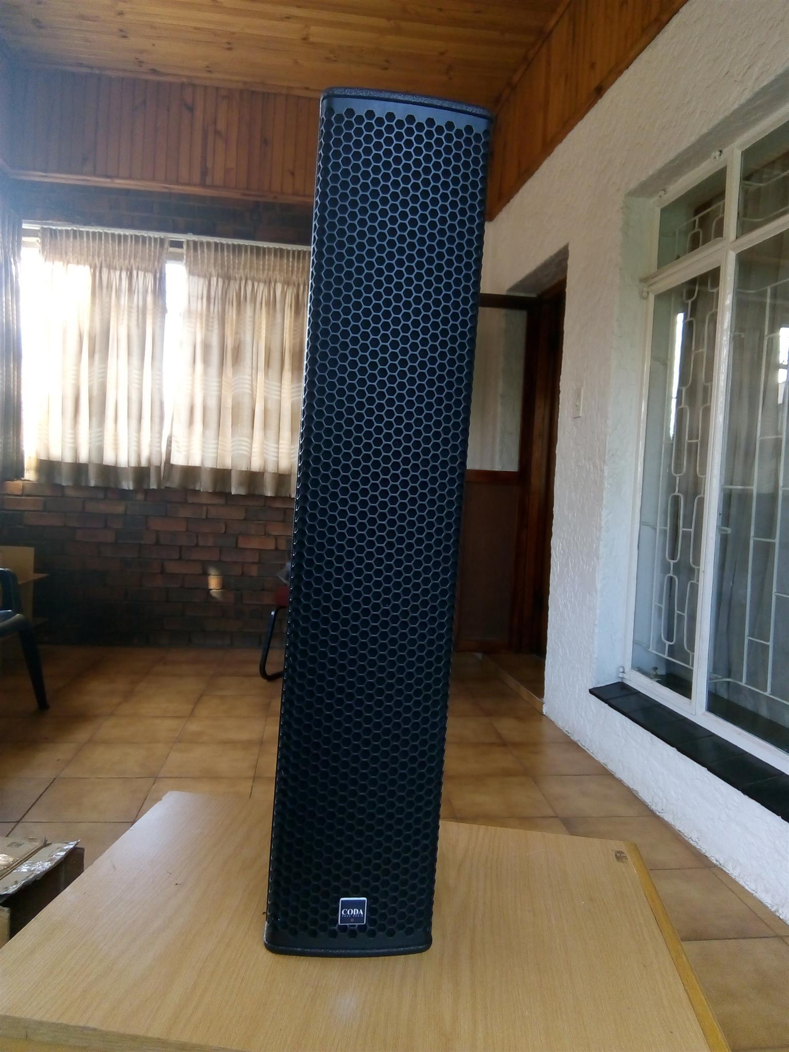 Coda Professional loudspeakers + controller