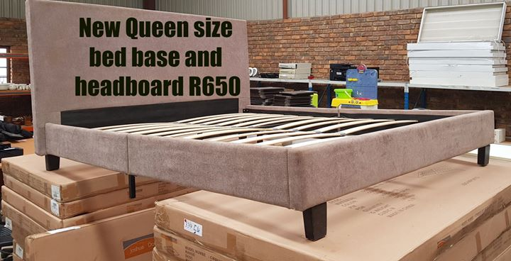 New queen size bed base and headboard