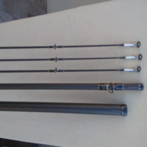 Poseidon 5 piece spin graphite fishing rod for sale