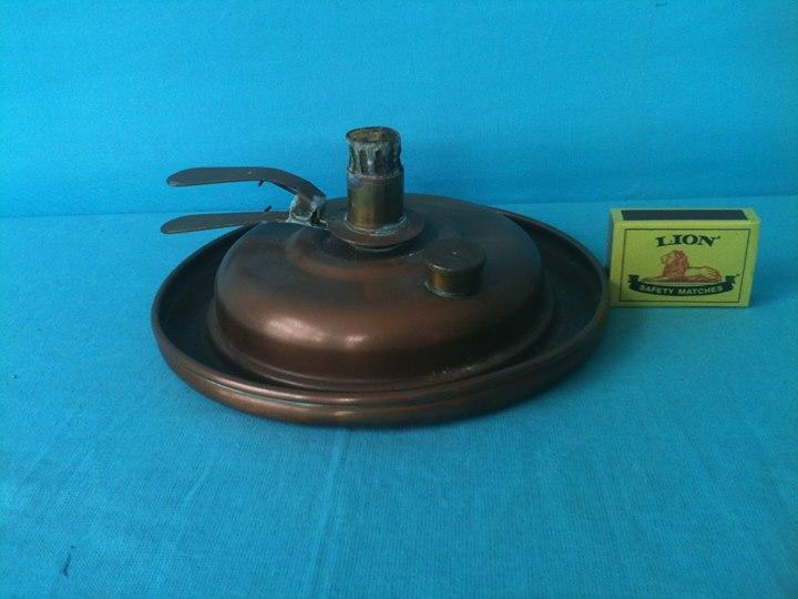 Old Copper Oil Lamp