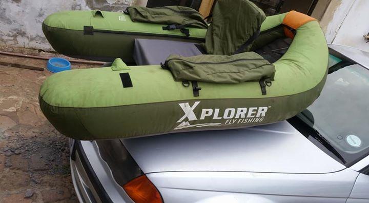Xplorer fly fishing blow up boat