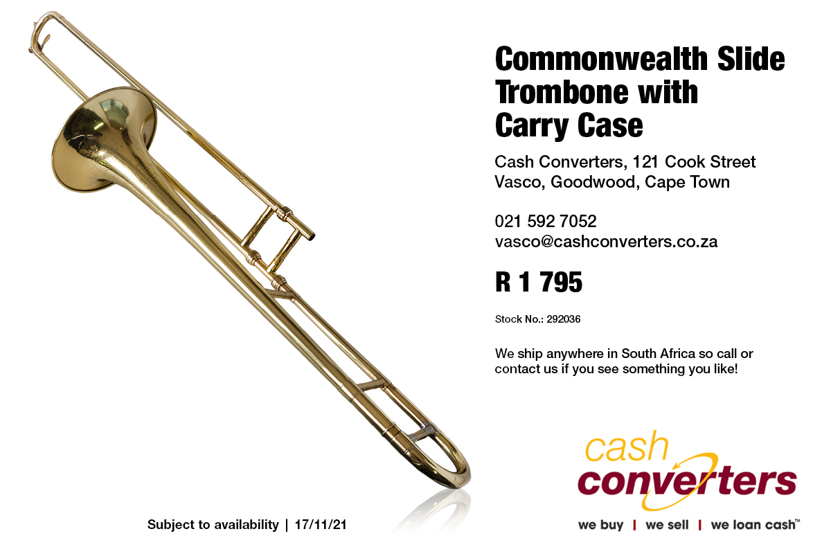 Commonwealth Slide Trombone with Carry Case