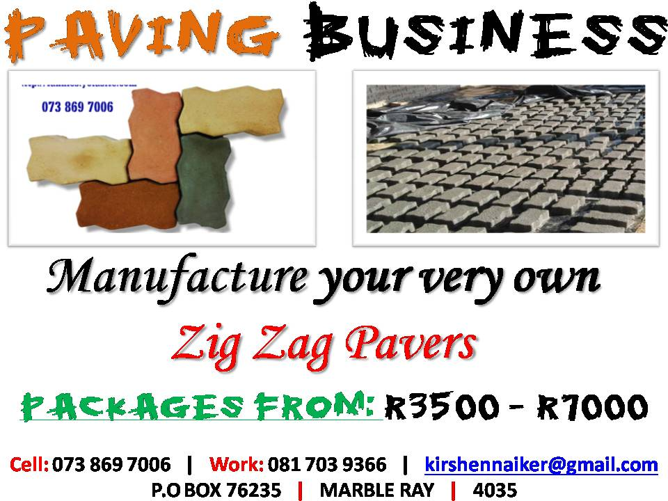 Manufacture Zig Zag Paving -  HUGE PROFITS TO BE MADE - Costs around 40c to make