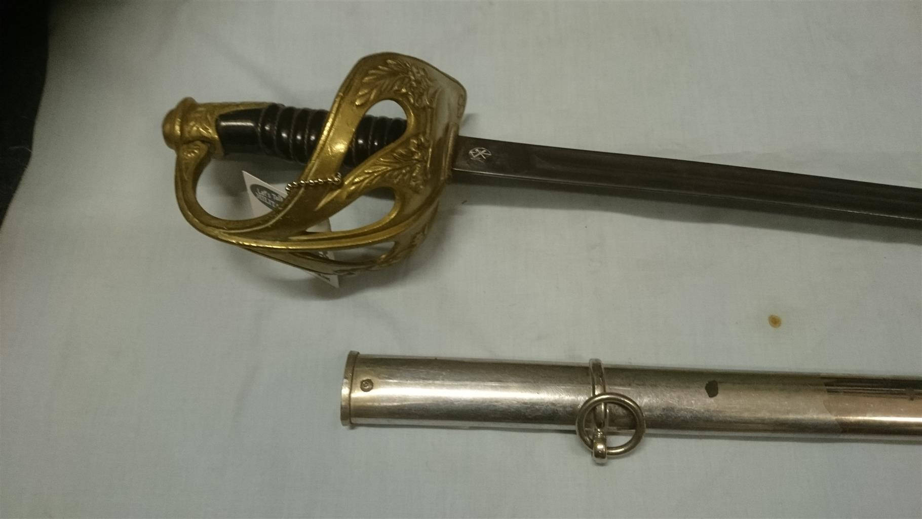 French 1896 colonial cavalry sword, beautiful original condition.