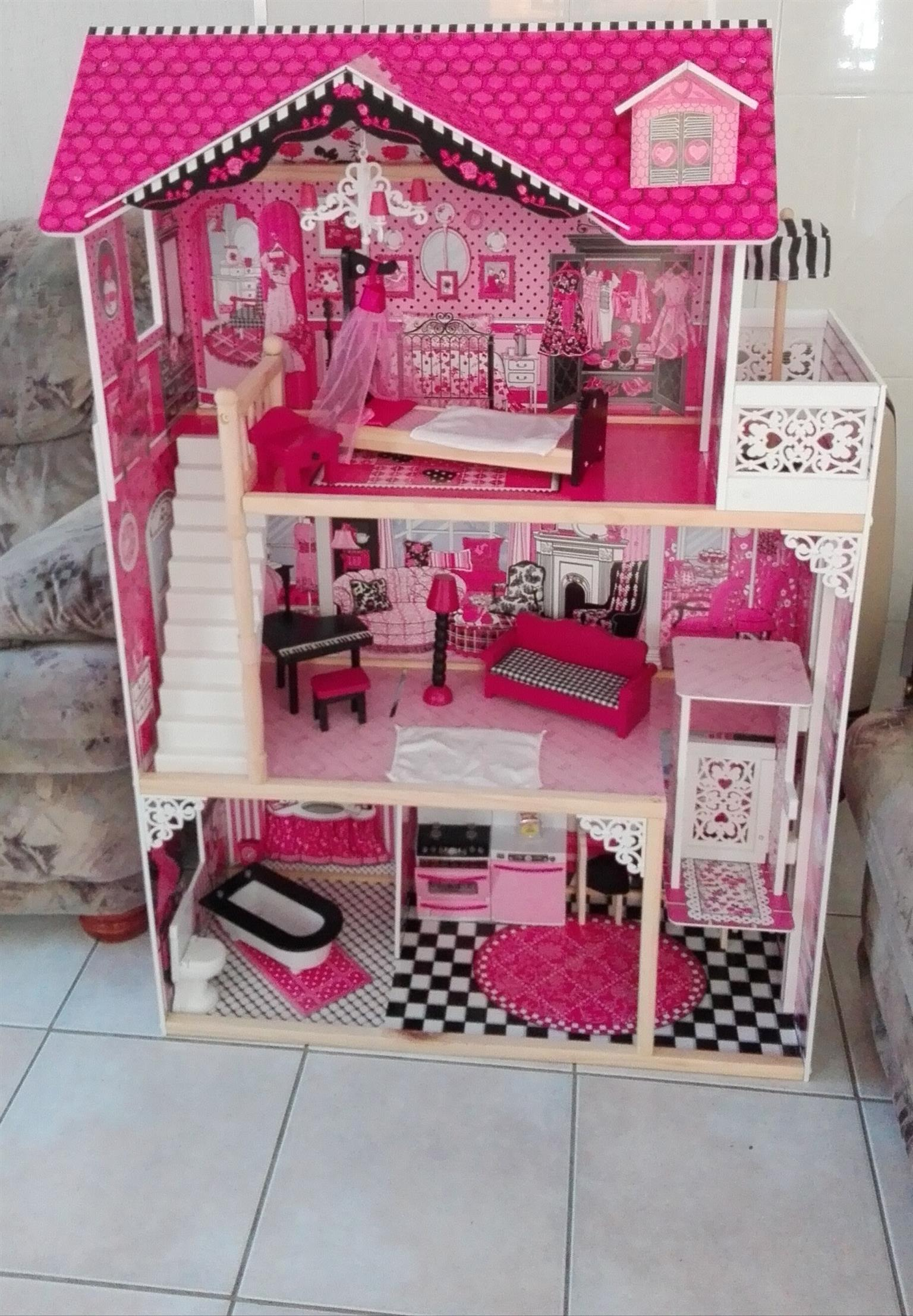 Wooden Dollhouse Junk Mail
