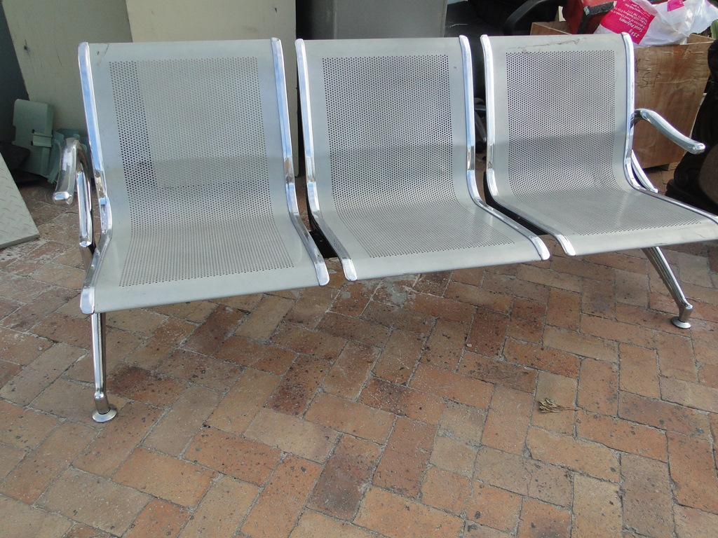 Heavy Duty Metal & Chrome Waiting Room/Reception Chairs for-sale at R1500 each