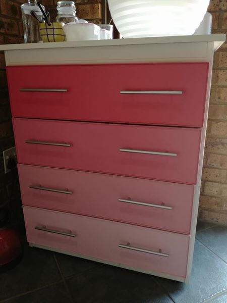 Pink chest of drawers for sale