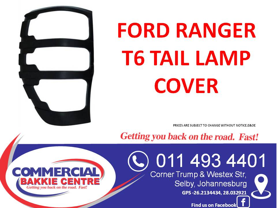 ford ranger t6 tail lamp cover 2012-
