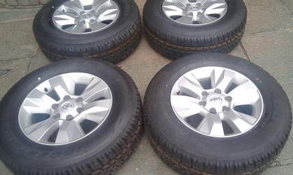 New Bridgestone dueler A/T 265/65/R17 Tyres and Mags for Toyota Hilux , for R10,500 {Set of 4}