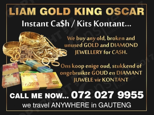 INSTANT CASH 4 GOLD JEWELLERY/ ALL AREAS IN GAUTENG
