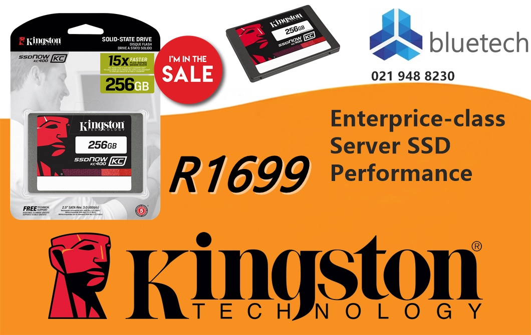 New Kinston SSDNow KC400 256GB Solid State Drive - Bluetech Computers Only 3 units in stock