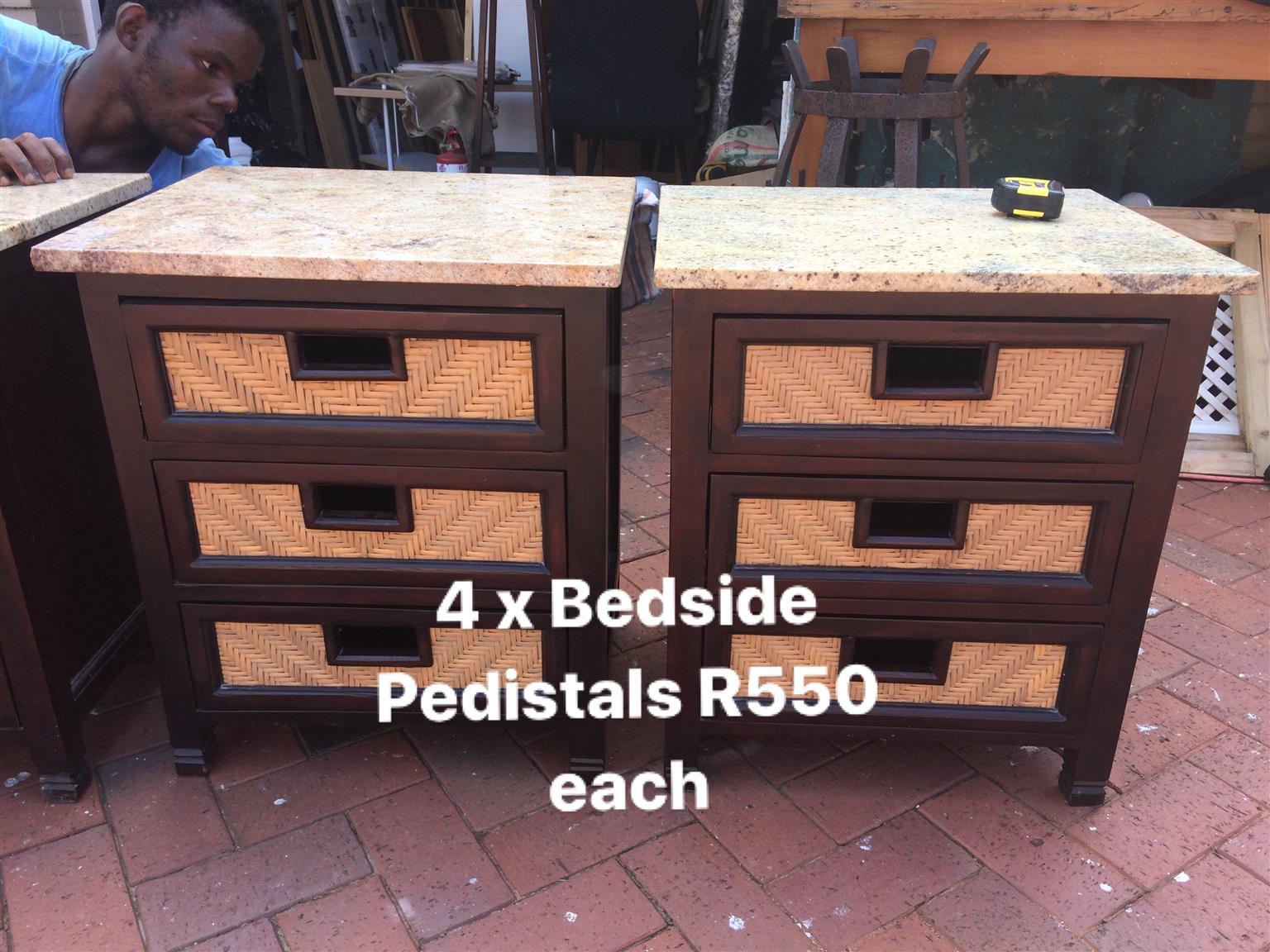 6 x Bedside Pedistals