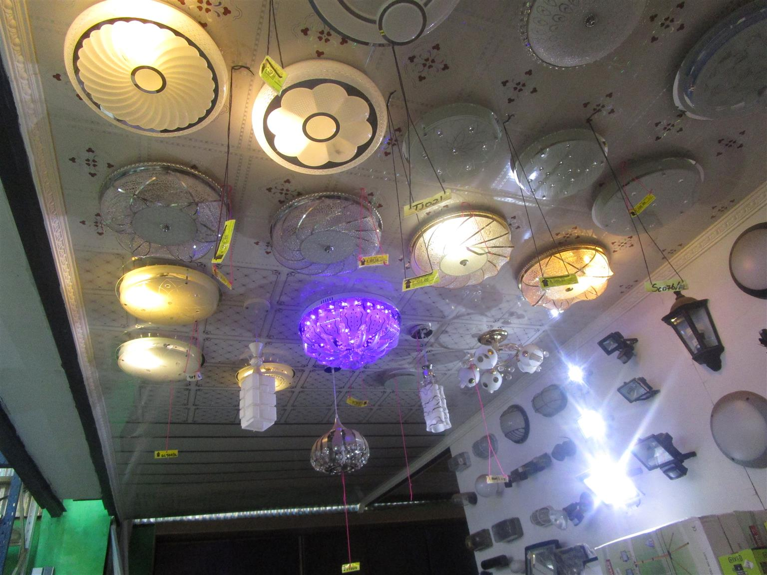 Variety of ceiling lights