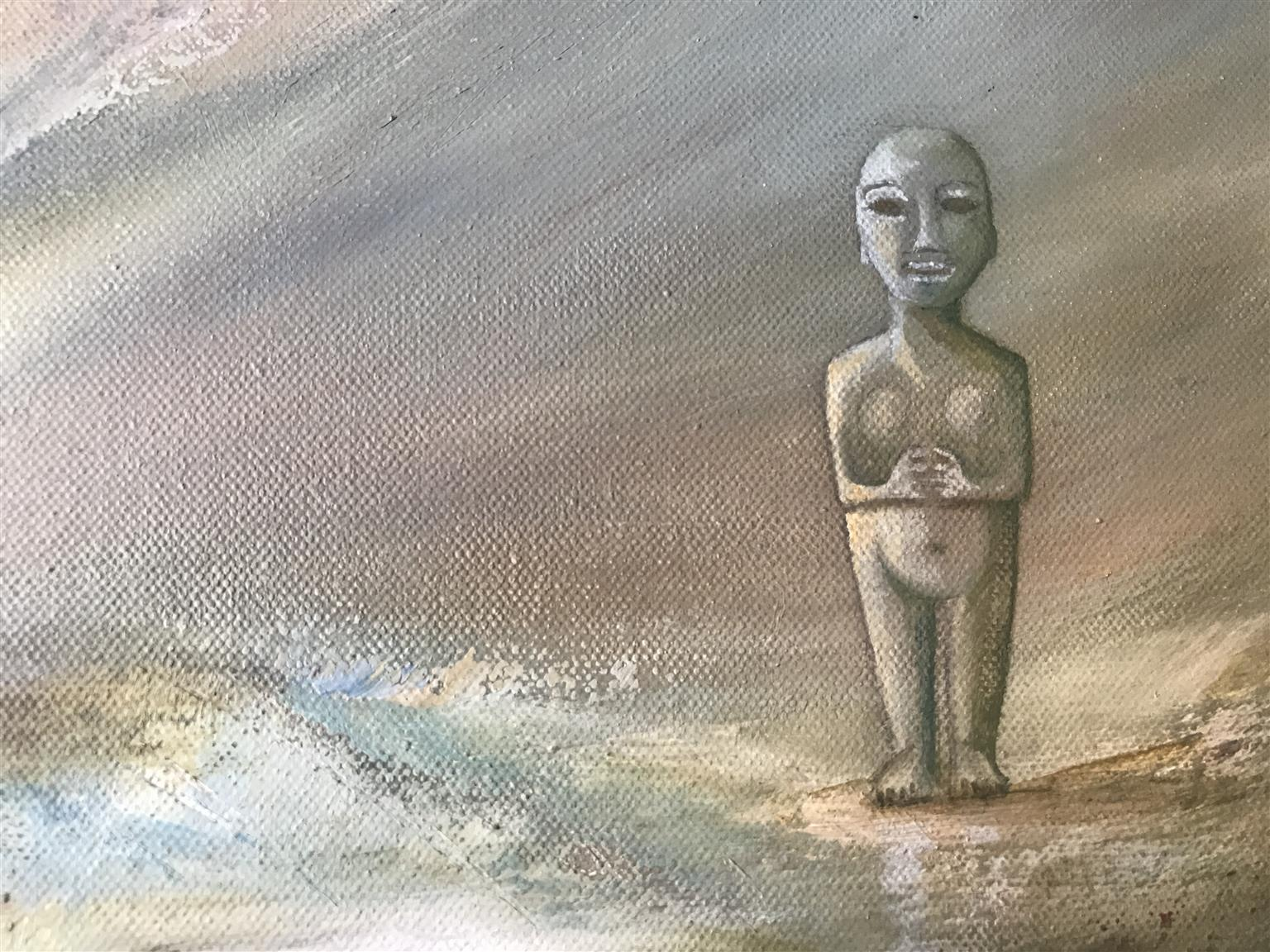 OIL PAINTING - NEVER ALONE