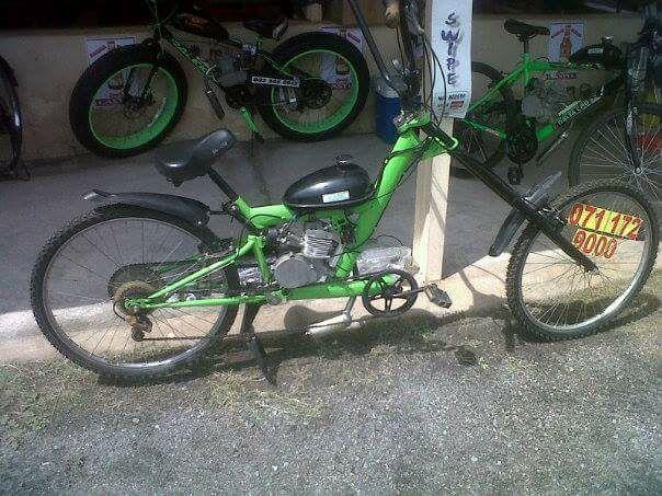 Motorized petrol bicycle