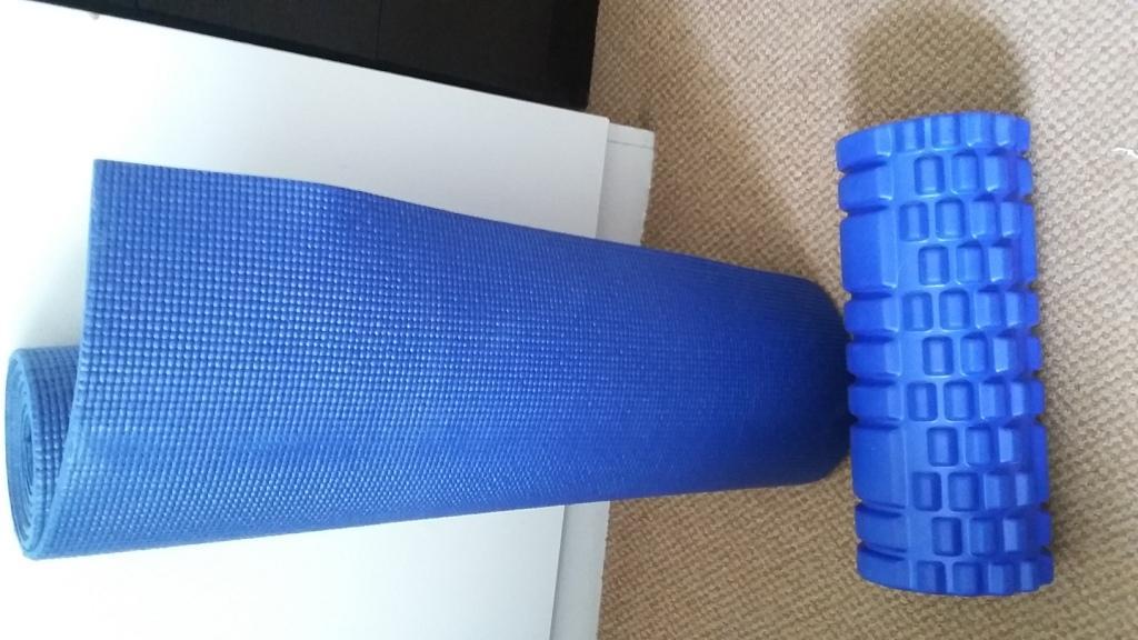 Foam Roller and Yoga Mat