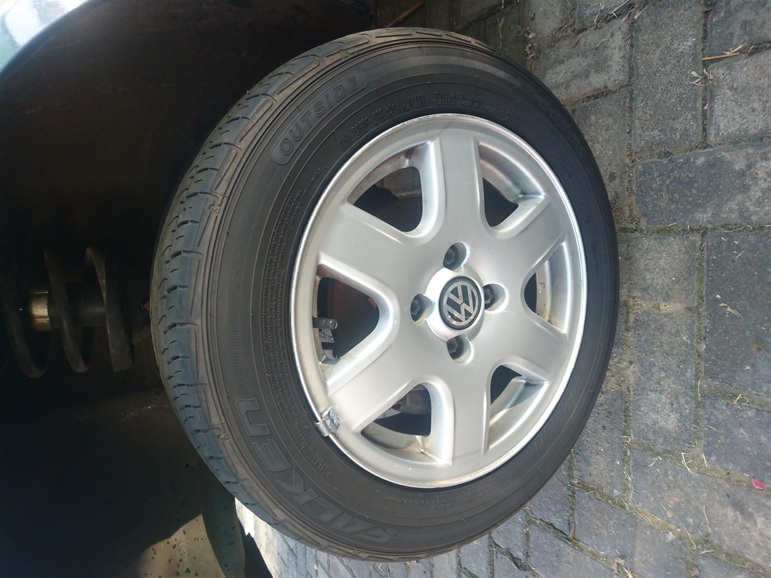 Vw Citi Golf 14 Flowers With Tyres