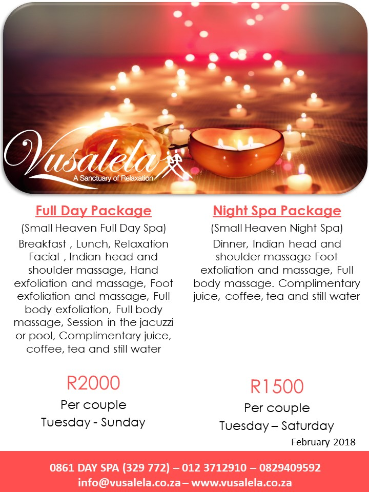Wonderful Valentines Specials At Vusalela Day Spa Junk Mail