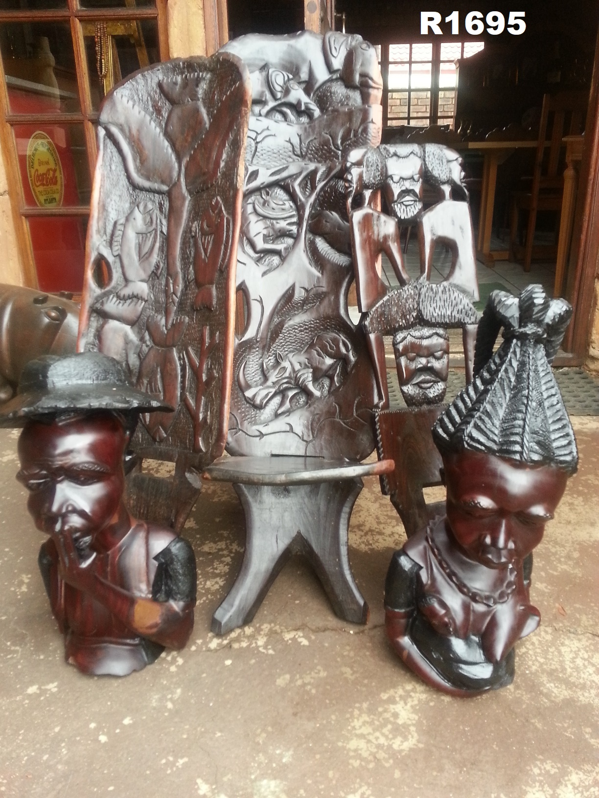 Classic Wooden Art Sculptures and Chair