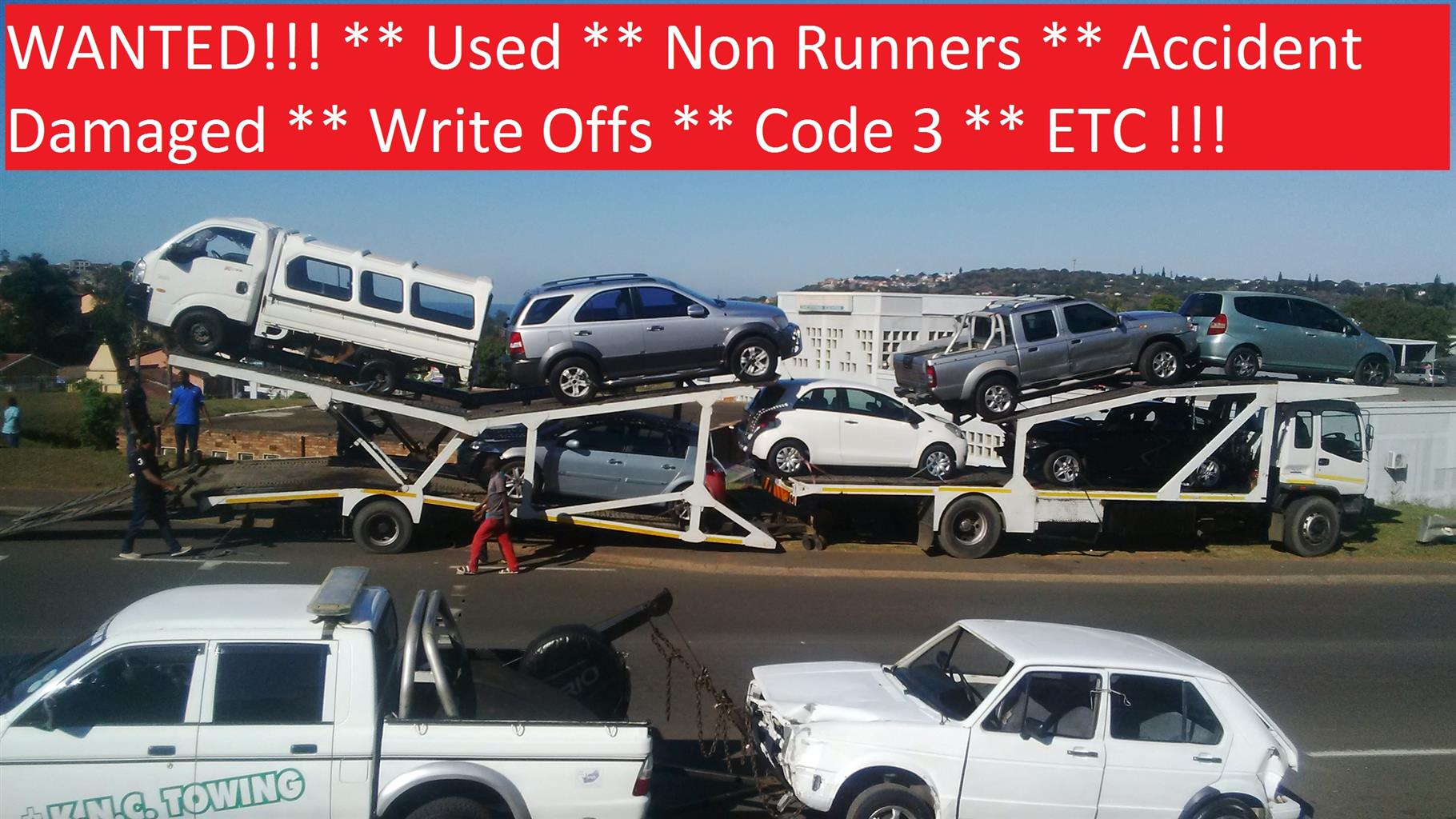 We pay cash for cars and bakkies, running or not! | Junk Mail