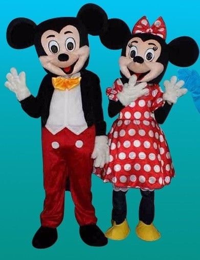 Mickey & Minnie Mouse Mascots For Sale / For Hire