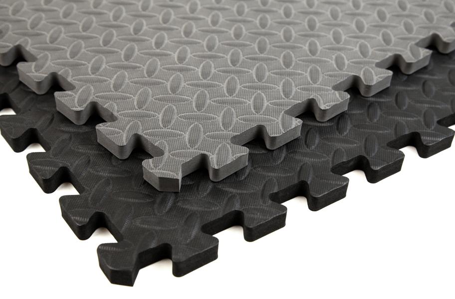 Foam puzzles – black / grey