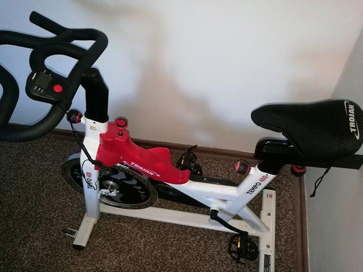 trojan spinbike,includes trojan padded seat cover