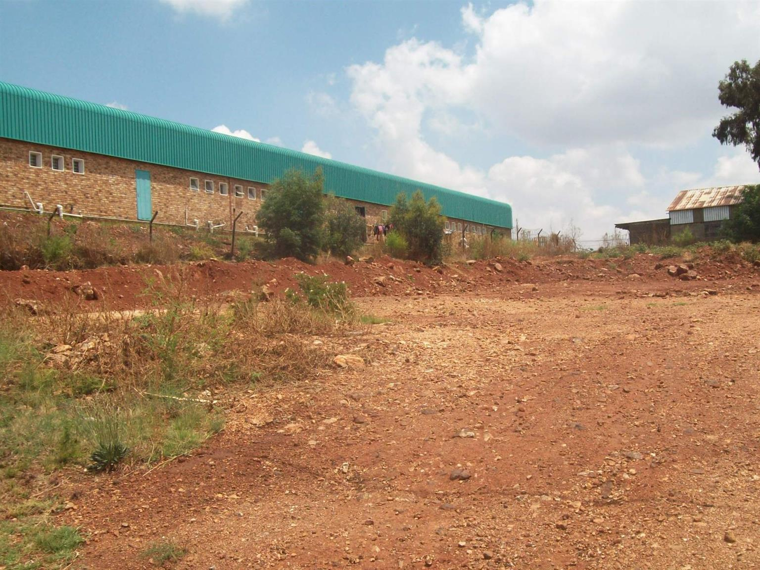 Industrial land for sale in buildup area.