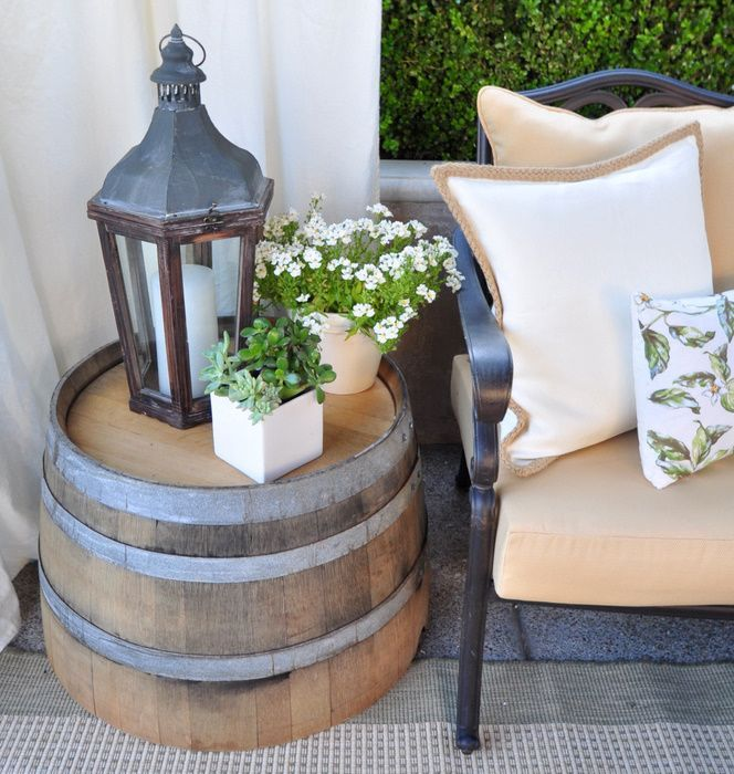 Beautiful Oak Wine Barrel Side Tables for sale!!