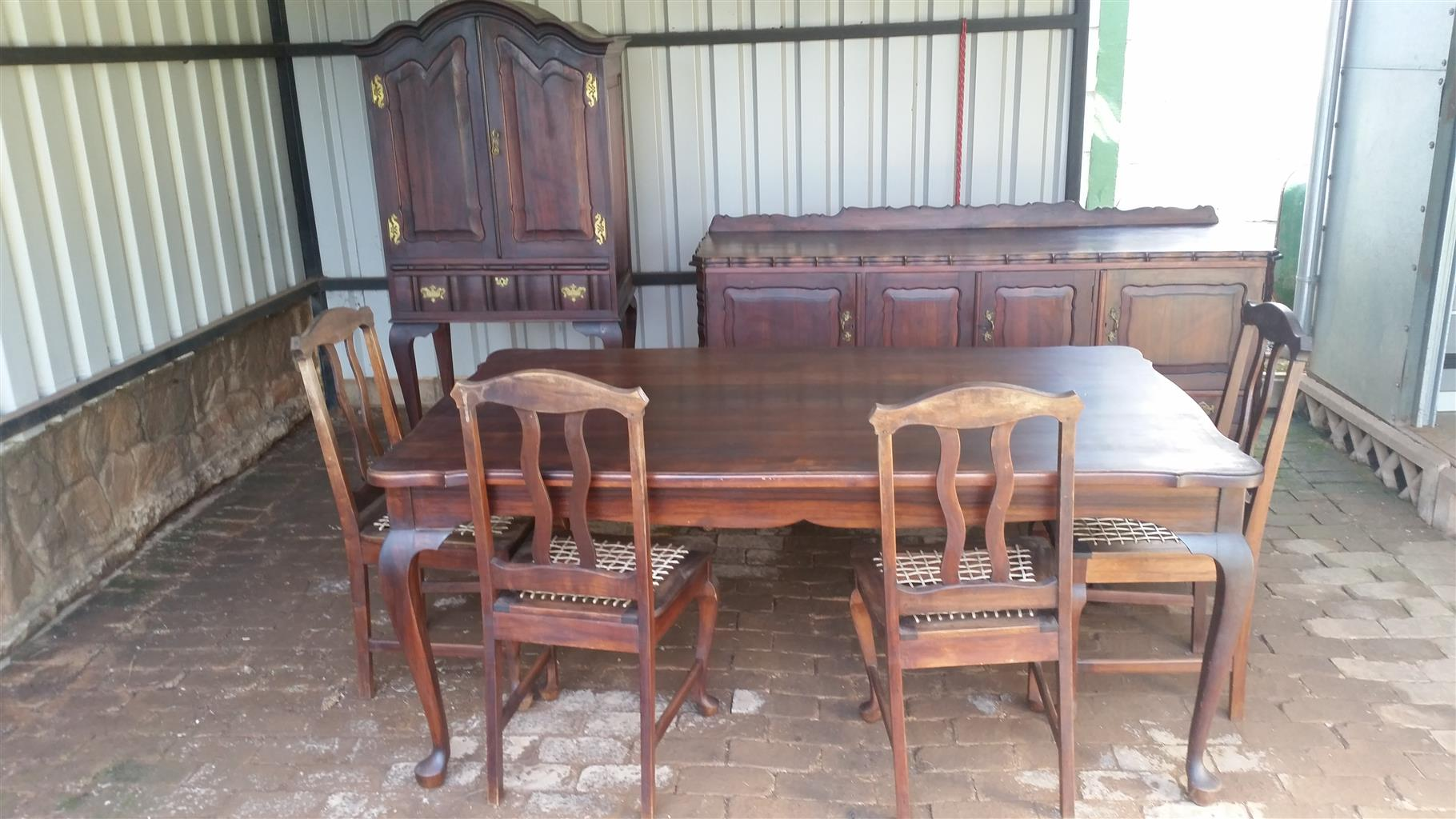 R 15 000 For Sale Antique 7 Piece Imbuia Dining Room