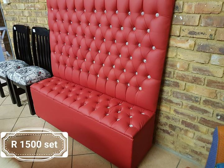 Bonded leather kist and headboard