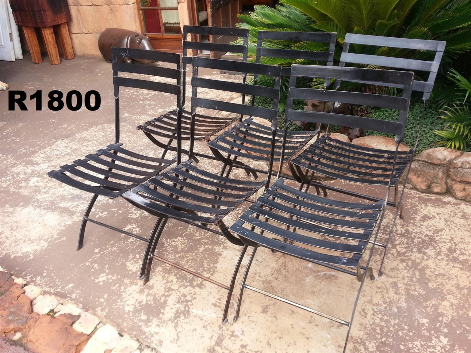 6 x Steel Patio Chairs