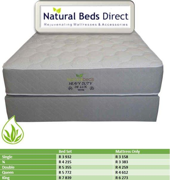 MATTRESSES = HEAVY DUTY DE LUX & BED SETS