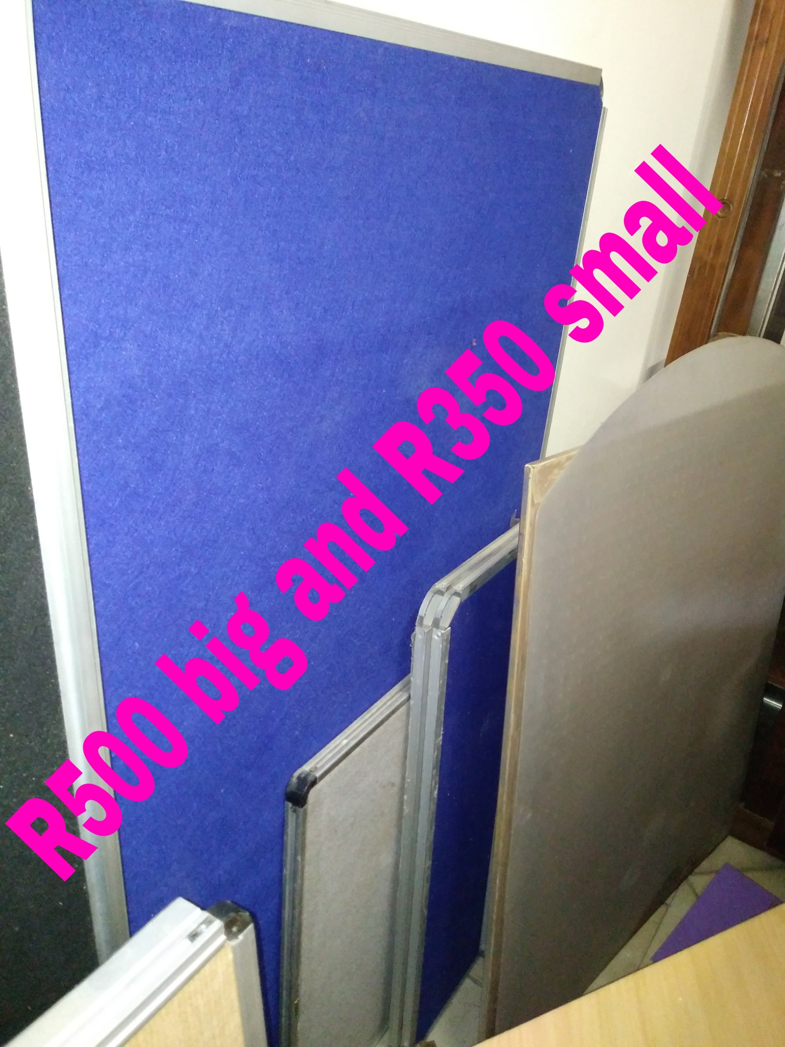 Pin and White boards available in various sizes