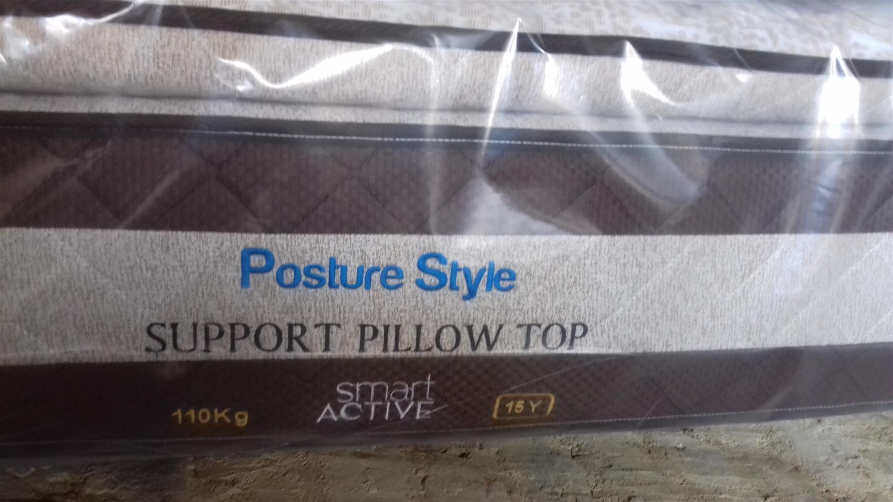 Posture Style Bamboo Pillow Top Queen Size Mattress only