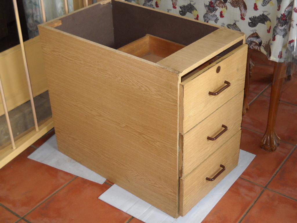 3 Drawer under counter pedestal