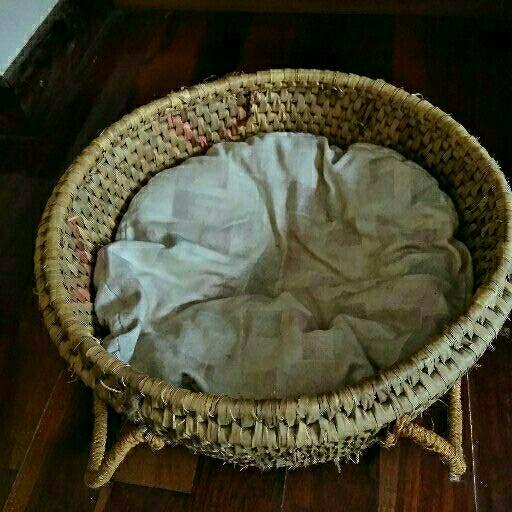 Woven pet basket