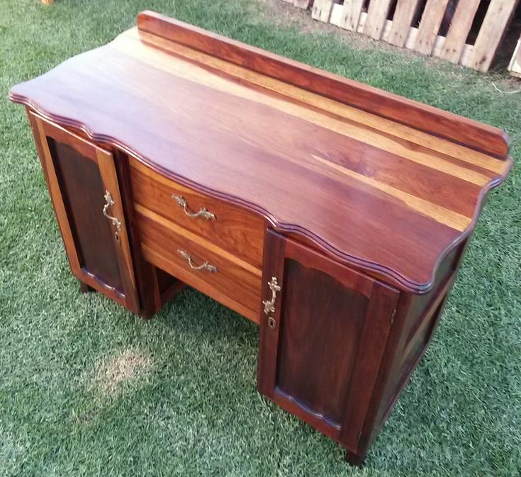 Lovely vintage Kiaat dresser/cabinet