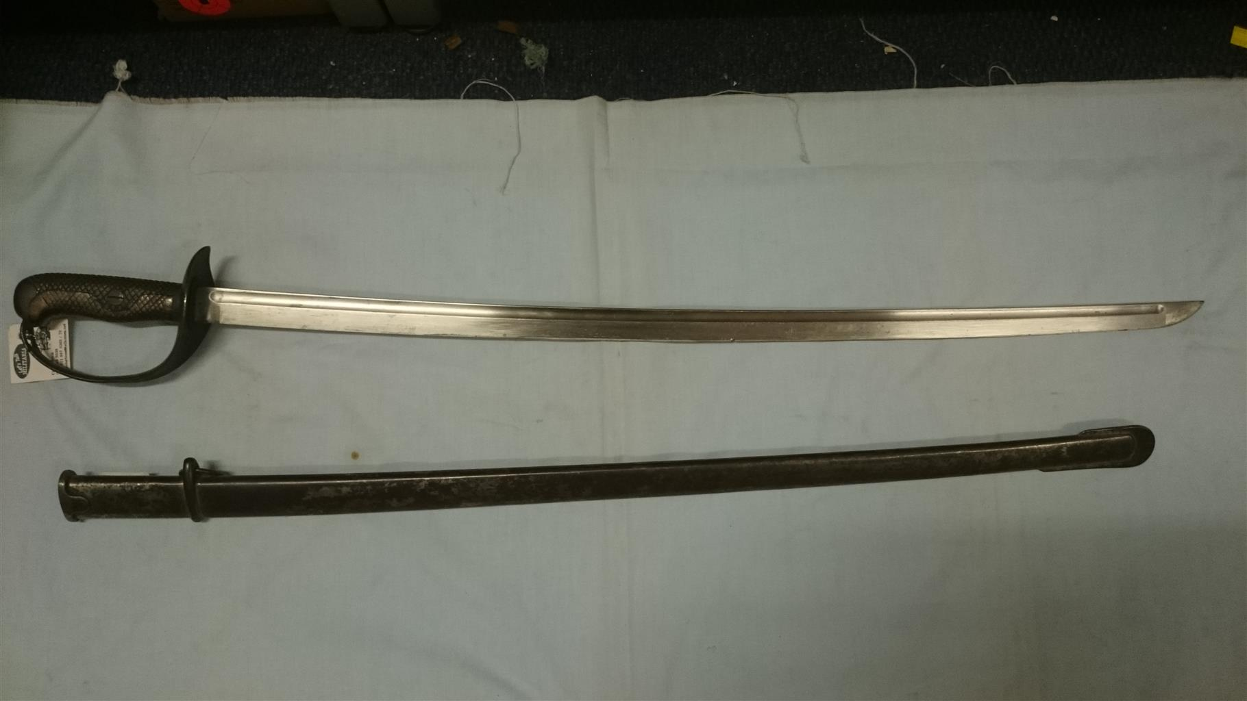 Japanese pattern 1908, cavalry sword, good original condition, super rare.